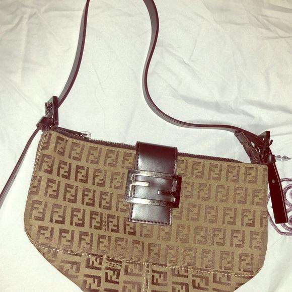 a4000f378d Fendi Handbags - FENDI ZUCCA MONOGRAM SHOULDER BAG